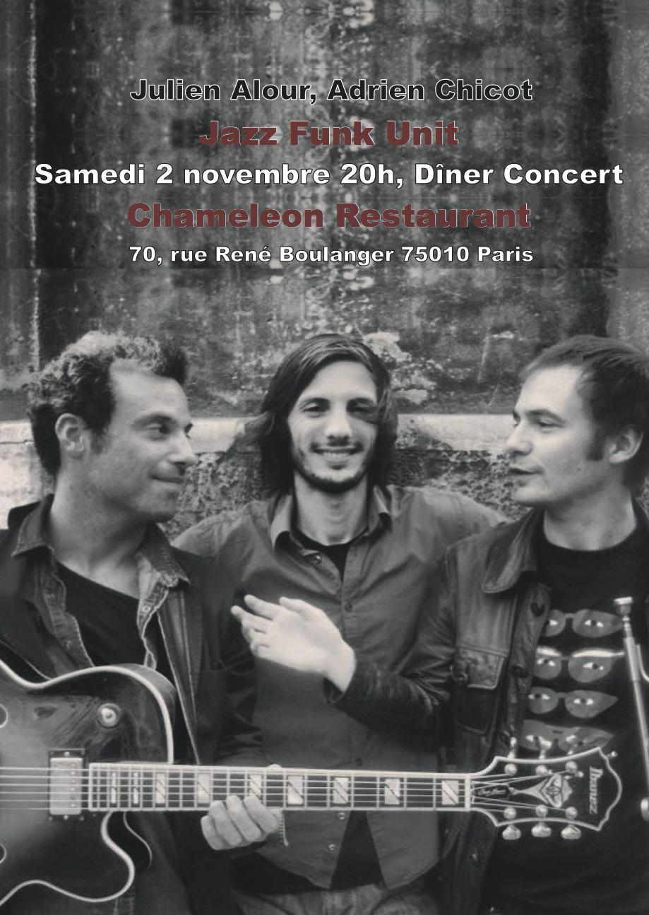 Concert Jazz Funk Alour Chicot 2 nov chameleon
