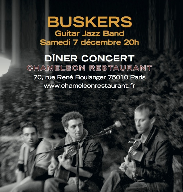 Diner concert Buskers 7 Dec